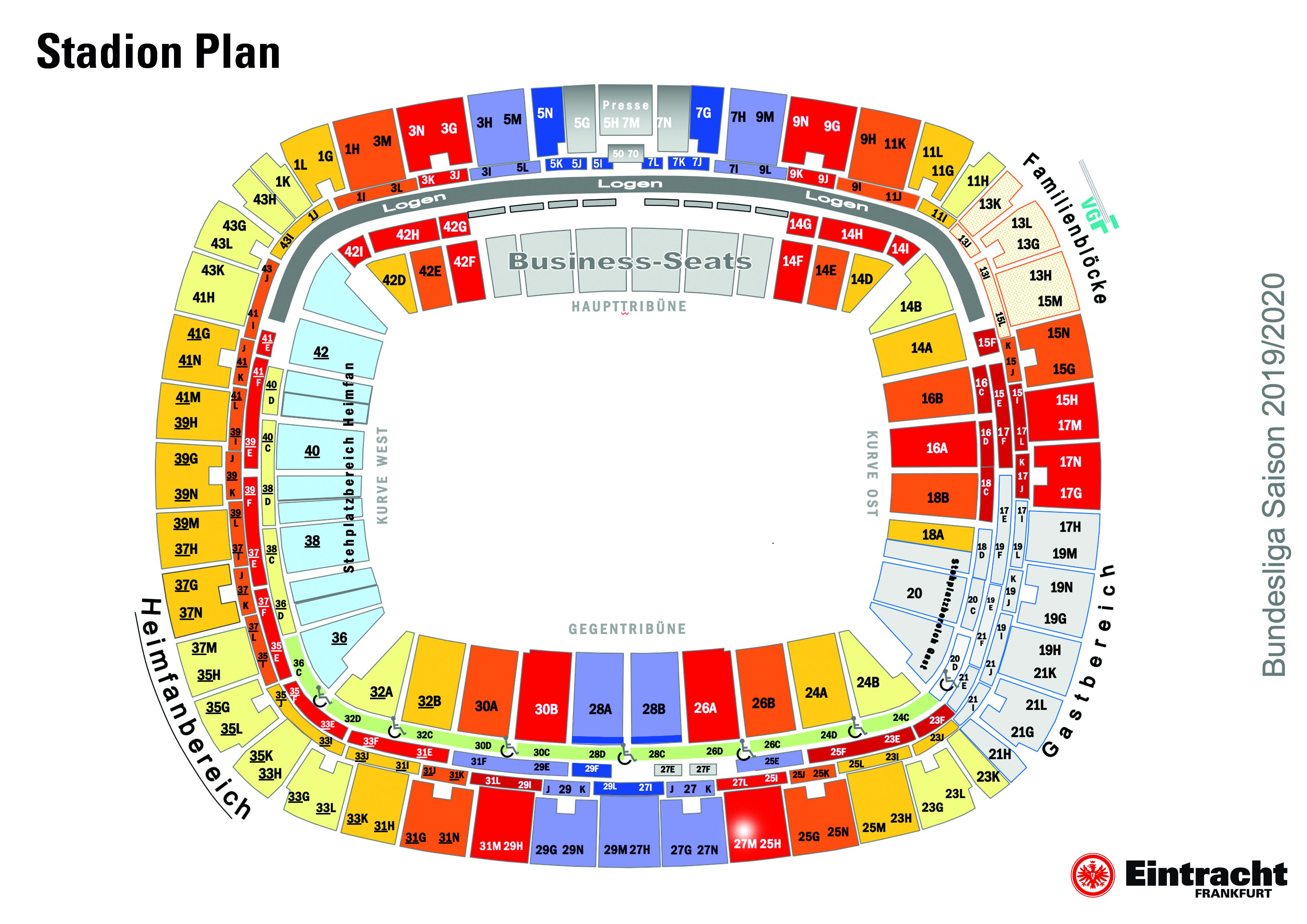 Eintracht Frankfurt Stadion Plan
